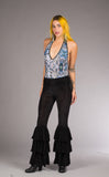 Midnight Burnout Velvet Pirate Pants - Warrior Within Designs ,Pirate Pant