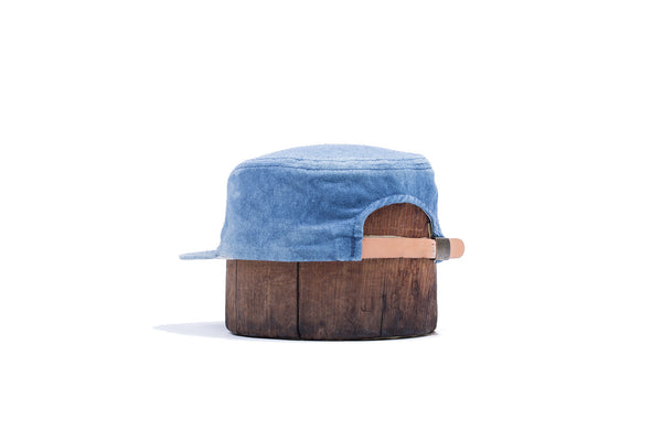 Indigo Dyed Raw Silk Ball Cap