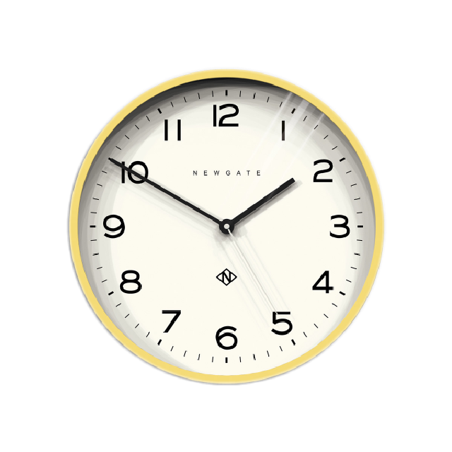 Number Three Echo Clock | Yellow