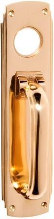 Tradco 'PULL HANDLE/KNOCKER' Polished Brass 1297 240mm x 60mm