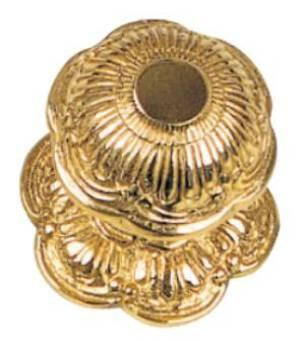 Tradco 'CENTRE DOOR KNOBS' Polished Brass 80mm 1303