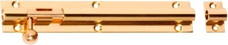 Tradco 'BARRELL BOLT' Polished Brass 1408 150mm x 25mm