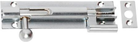 Tradco 'BARREL BOLT-OFFSET' Satin Chrome 1429 100mm x 25mm