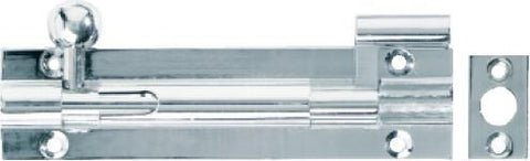 Tradco 'BARREL BOLT-OFFSET' Chrome Plate 1437 100mm x 25mm