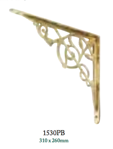 Tradco 'BRACKET-LARGE' Polished Brass 1530 310mm x 260mm 1530