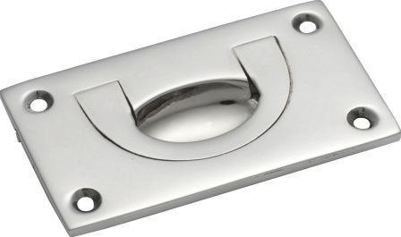 Tradco 'FLUSH PULL' Chrome Plate 70 x 40mm 1561