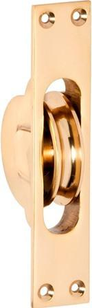 Tradco 'SASH PULLEY' Polished Brass 1680 25mm x 125mm