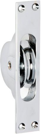 Tradco 'SASH PULLEY' Chrome Plate 1682 25mm x 125mm