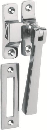 Tradco 'CASEMENT FASTENER-SQUARE' Chrome Plate 1691 95mm x 35mm