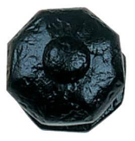 Tradco 'OCTAGONAL CENTRE DOOR KNOB' Matt Black 1810 63mm