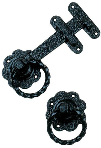 Tradco 'GATE LATCH' Malleable Iron Matt Black 1868