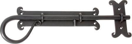 Tradco 'SLIDE BOLT IRON' Matt Black 1908 400mm