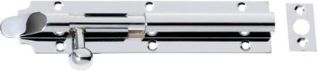 Tradco 'BARREL BOLT - LONG THROW' Chrome Plate 2954 150mm x 32mm