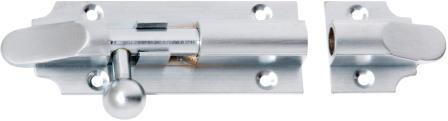 Tradco 'BARREL BOLT' Satin Chrome 2961 100mm x 32mm
