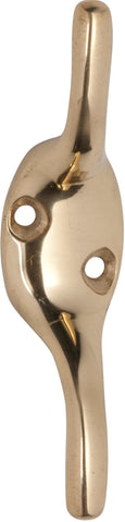 Tradco 'CLEAT HOOK' Polished Brass 75mm 3965