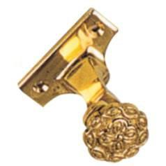 Tradco 'CURTAIN BRACKET - CENTRE' Polished Brass 19mm 4601