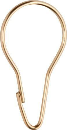 Tradco 'SHOWER CURTAIN HOOK' Polished Brass 4660
