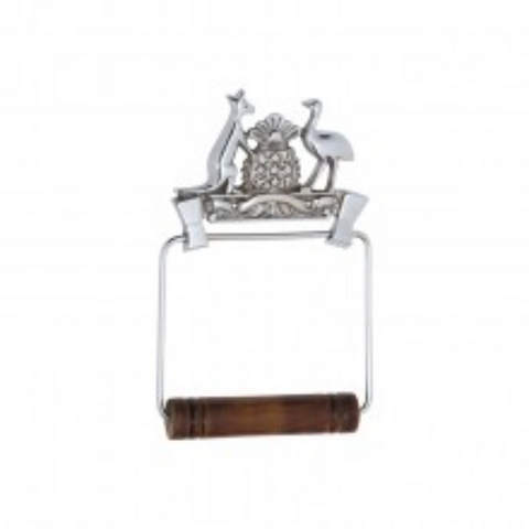 Tradco 'COAT OF ARMS TOILET ROLL HOLDER' Chrome Plate 4869