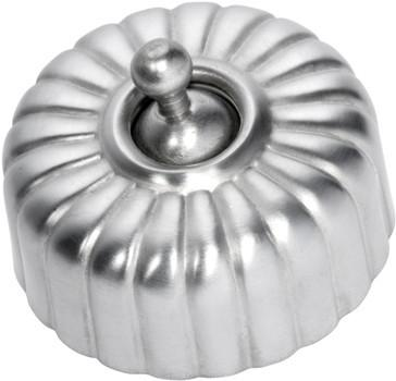 Tradco 'FLUTED SWITCH' Satin Chrome D55 x P40mm 5540