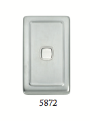 Tradco 'ROCKER SWITCH' Satin Chrome 5872 72mm x 115mm