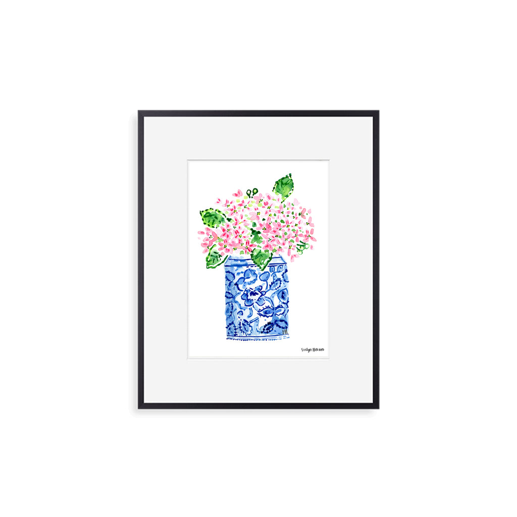 "The ""Happy Pink Hydrangeas"" Fine Art Print"