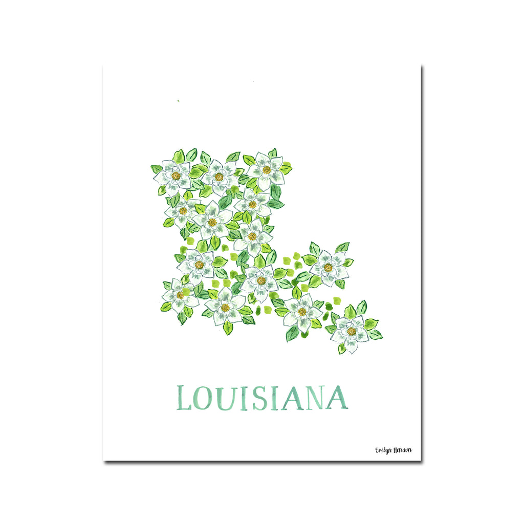 Louisiana Magnolia Flower Print
