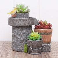 Chirpy Buckets Resin Succulent Pot