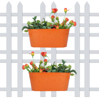 (Pack of 2) Self embossed Railing planters