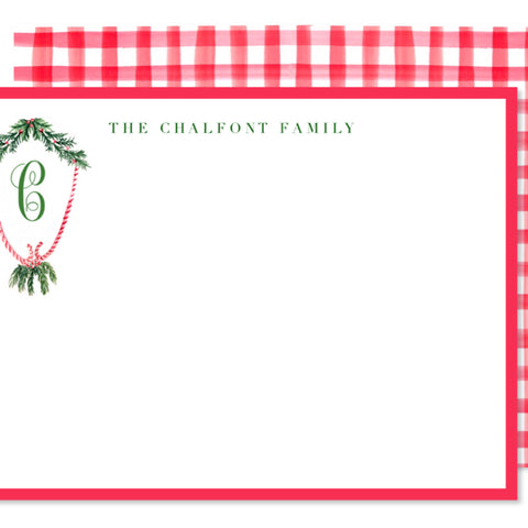 Candy Cane Crest Note Cards