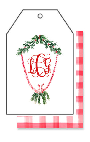 Candy Cane Crest Gift Tag
