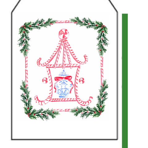 Candy Cane Pagoda Gift Tag