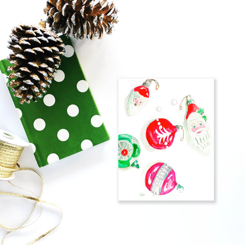 Ho, Ho, Holiday Vintage Ornament Cards