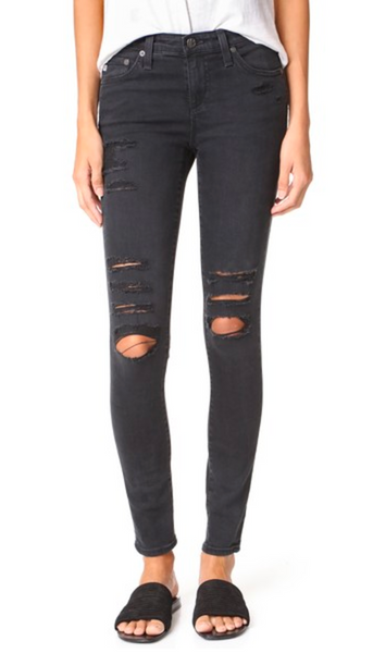 AG DISTRESSED LEGGING ANKLE / EQUATION Boutique