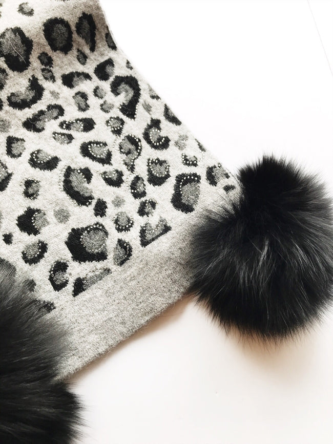 Mitchie's matching Knit Wool Scarf -Leopard / EQUATION Boutique