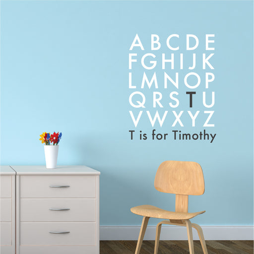 wall quotes Nursery wall decal - Alphabet Baby Monogram | lifestyle