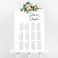 Monochrome minimal wedding seating chart