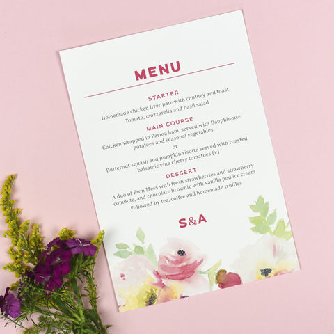 Lucy Menu Cards