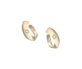 ROBERT OPENSHAW 9CT YELLOW GOLD & CZ STUD EARRINGS GHE233 - Robert Openshaw Fine Jewellery