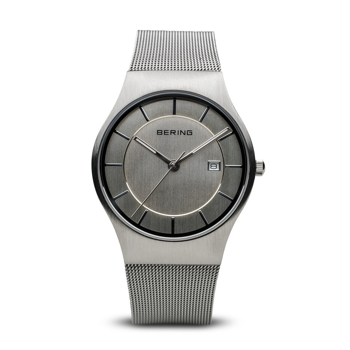 Bering Mens Classic Brushed Silver Watch 11938-000 - Robert Openshaw Fine Jewellery