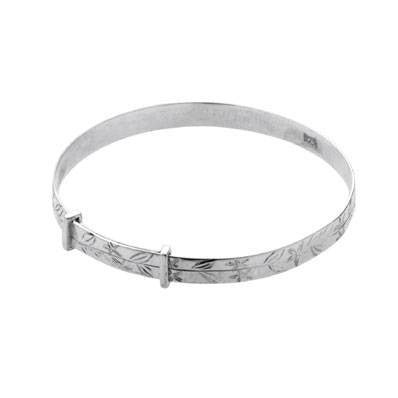 Carrs Silver Christening Bangle PNJ042