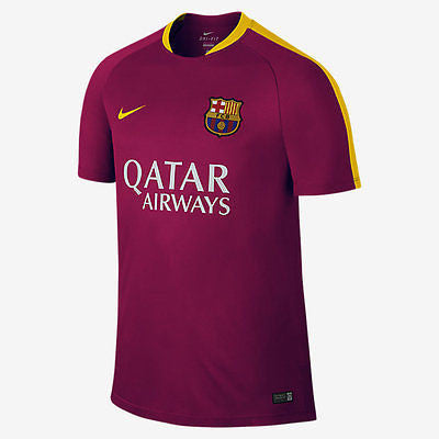 NIKE FC BARCELONA FLASH TRAINING TOP Dynamic Berry/University Gold