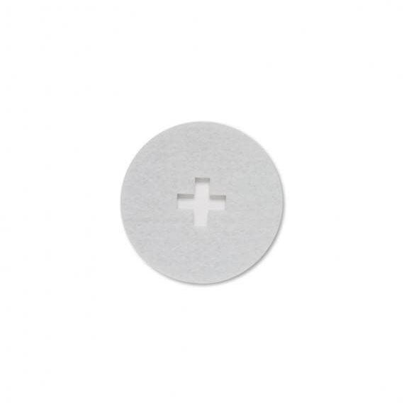 White Cross Felt Coaster Set