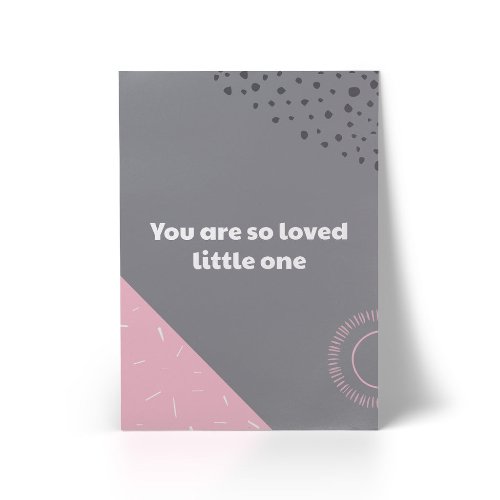 Print You Are So Loved Pink A3