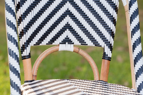 French Bistro Chair - Chevron in Black