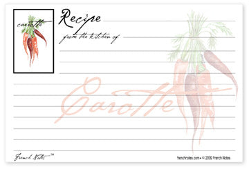 Carrot Recipe Cards