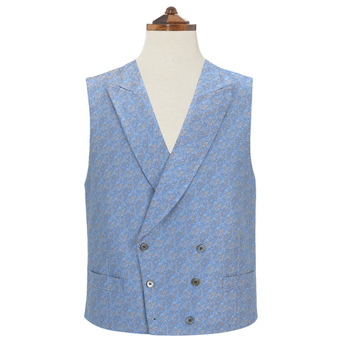 Hayward Blue and Gold Silk Waistcoat