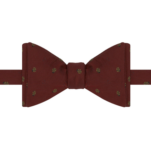Red Ladybird Woven Silk Bow Tie