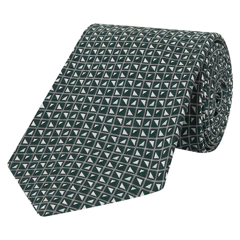 Green Geo Diamond Silk Tie