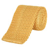 Yellow Heavy Guage Knitted Silk Tie