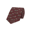 Red Novelty Horse Racing Woven Silk Tie